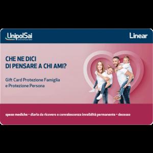 Gift Card Unipol assicurazione famiglia persona infortuni